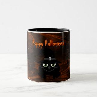 Cute Halloween Cat & Spiders Magical Night Mug
