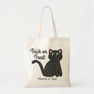 Cute Halloween Cat Trick or Treat Personalized