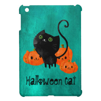 Cute Halloween cat with pumpkins Cover For The iPad Mini