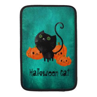 Cute Halloween cat with pumpkins MacBook Sleeves
