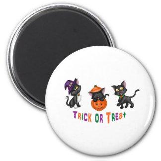 Cute Halloween Cats 6 Cm Round Magnet