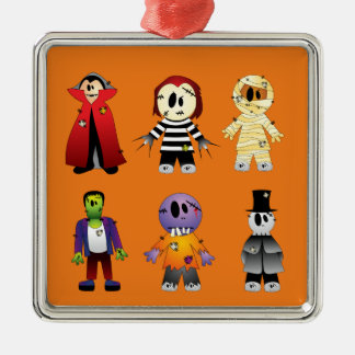 Cute Halloween Costume Character Metal Ornament