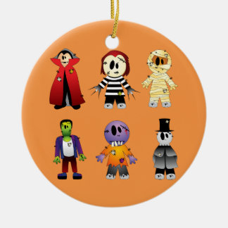 Cute Halloween costume characters Ceramic Ornament