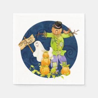 Cute Halloween for Kids Scarecrow Pumpkin Ghost Disposable Napkin