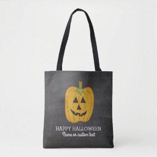 Cute Halloween Funny Pumpkin Jack O Lantern Custom Tote Bag