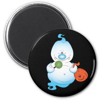 Cute Halloween Ghost Cartoon 6 Cm Round Magnet