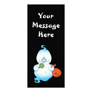 Cute Halloween Ghost Cartoon Rack Card Template