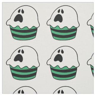 Cute Halloween ghost cupcake Fabric