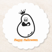 Cute Halloween Ghost with crown