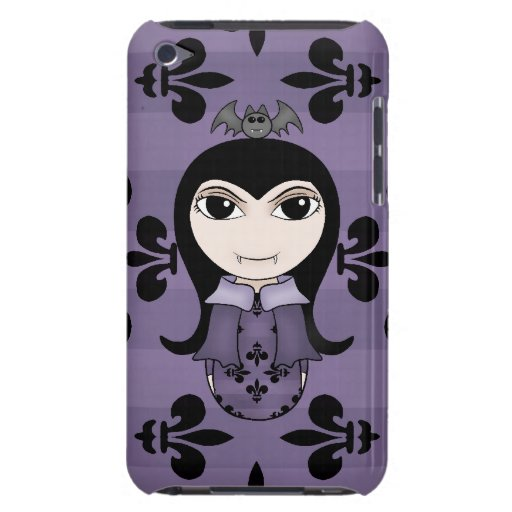 Cute Halloween gothic vampire girl in purple iPod Touch Covers