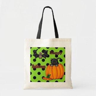 Cute Halloween Kitten, Bat Trick or Treat Bags