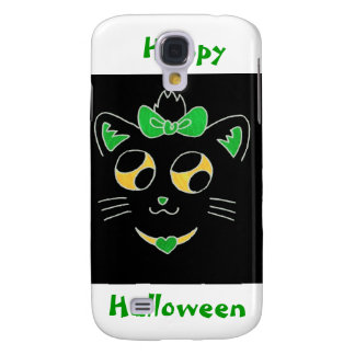 cute halloween kitty galaxy s4 case