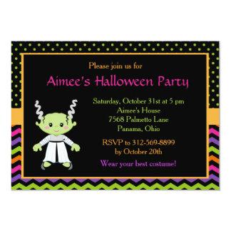 Cute Halloween Monster Girl Costume Party 13 Cm X 18 Cm Invitation Card