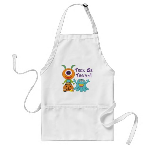 Cute Halloween Monster Tees and Gifts Apron