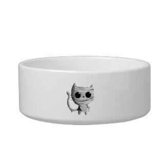 Cute Halloween Mummy Cat Pet Water Bowls