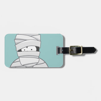 Cute Halloween Mummy Personalizable Luggage Tag