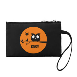 Cute Halloween Owl + customised background colours Coin Purse