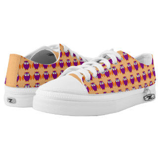 Cute Halloween Owl Shoes Printed Shoes