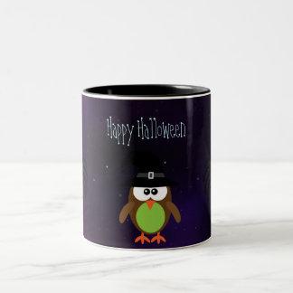 Cute Halloween Owl & Spiders Magical Night Mug