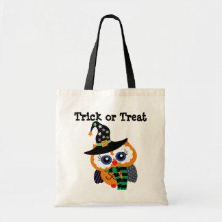 Cute Halloween Owl Trick or Treat Tote Bag