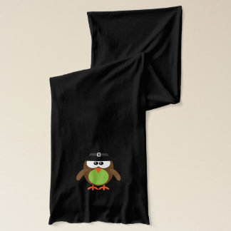 Cute Halloween Owl with Witches Hat Scarf