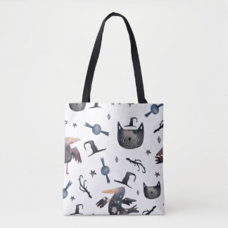 Cute Halloween Painted Patterns (Customizeable BG) Tote Bag
