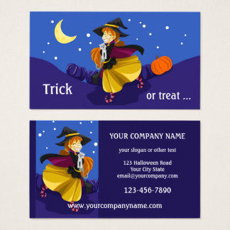 Cute Halloween Party Business Card