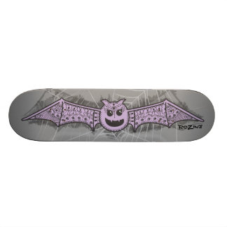 Cute Halloween Princess Bat with Henna Designs Skateboard