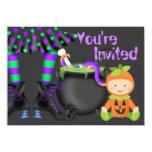 Cute Halloween Pumpkin Baby 1st Birthday Invite 11 Cm X 16 Cm Invitation Card