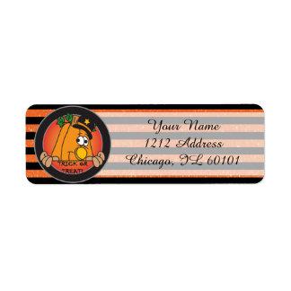 Cute Halloween Pumpkin Return Address Label