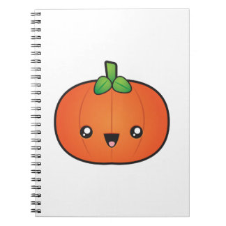 Cute Halloween Pumpkin Spiral Notebook