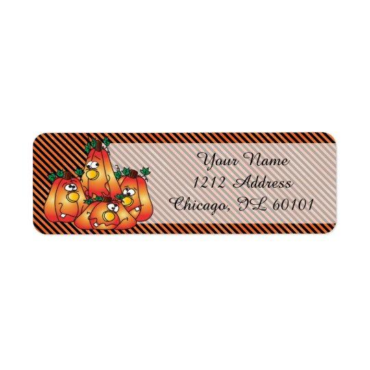 Cute Halloween Pumpkins Return Address Label