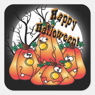 Cute Halloween Pumpkins Square Sticker