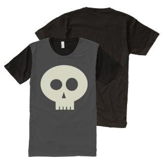 Cute Halloween Skeleton Skull Black T-Shirt