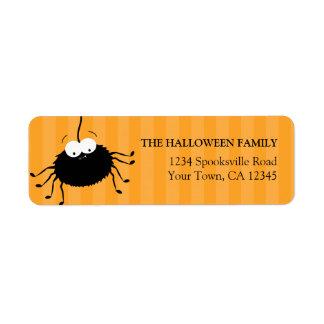 Cute Halloween Spider Return Address Labels