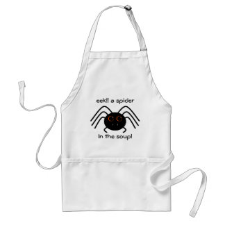 Cute Halloween spider with big eyes and fangs Adult Apron