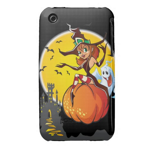 Cute Halloween Witch iPhone 3 Case-Mate Case