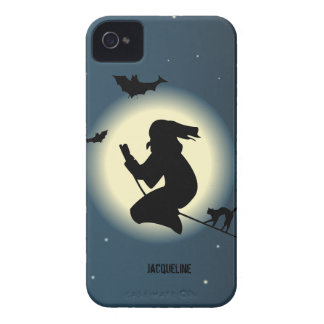 Cute Halloween Witch In Action Blackberry Case