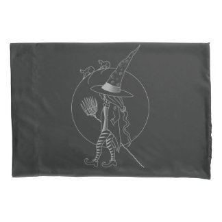 Cute Halloween Witch Pillowcase