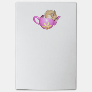 Cute Hamster in a Pink Teapot Photo Post-it Notes