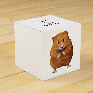 Cute Hamster, Original Drawing, Party Thanks Favour Box