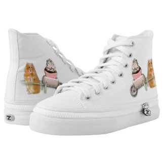 cute hamster printed shoes