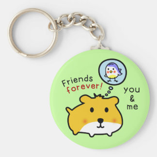 cute hamster timmy and friends key ring
