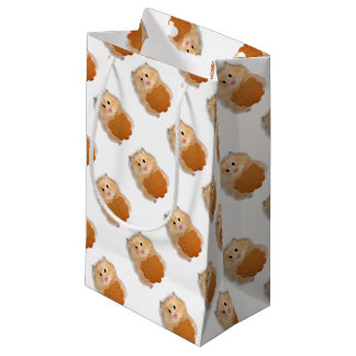 Cute hamster with biscuit illustration gift small gift bag