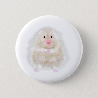 Cute hamster with illustration gift by Gemma Orte 6 Cm Round Badge