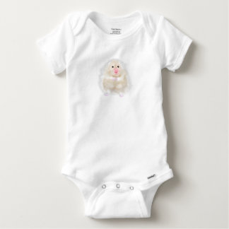 Cute hamster with illustration gift by Gemma Orte Baby Onesie