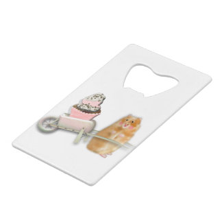 Cute hamster with muffin illustration gift