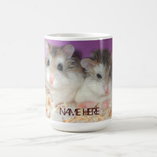 Cute Hamsters in Love Mug with Customisable Name