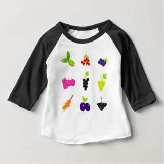 Cute hand-drawn Art Fruit edition Baby T-Shirt