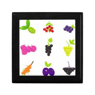 Cute hand-drawn Art Fruit edition Small Square Gift Box
